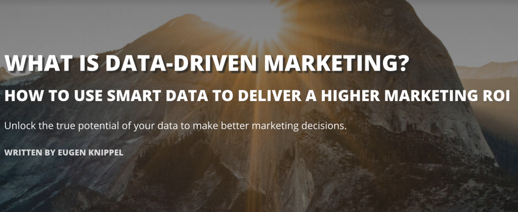 what is data driven marketing