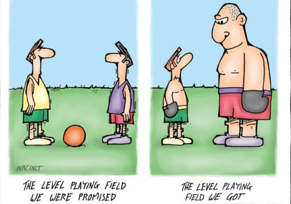 caricature about unfairness