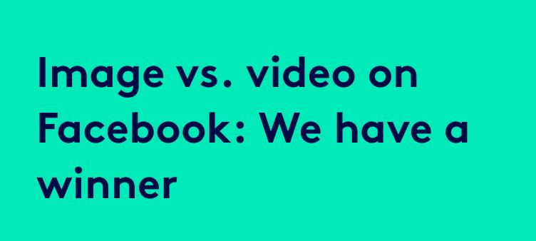 image vs video instagram