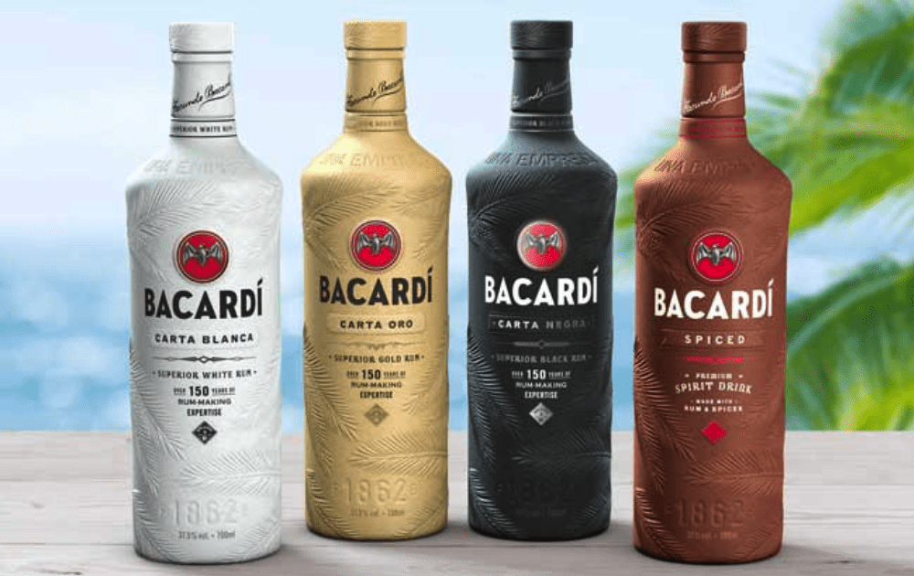 Barcardi's biodegradable bottles.