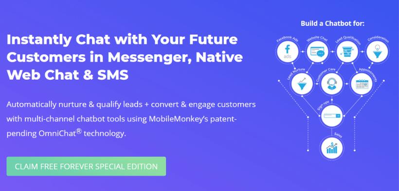 Mobile Monkey AI platform