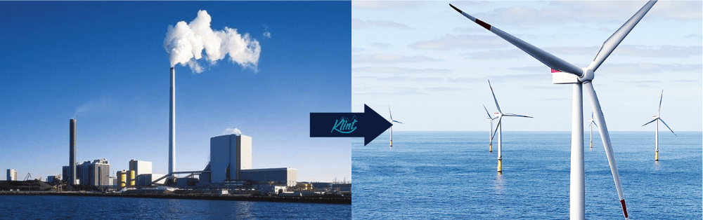 Orsted's sustainable marketing; from coal and gas to wind farms.