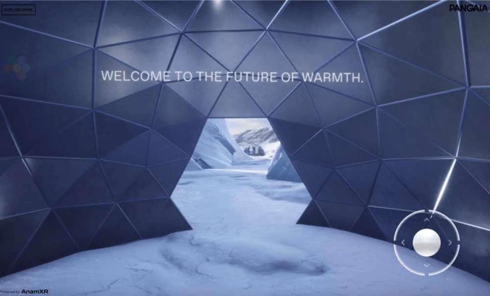 Pangaia's sustainable marketing VR experience.