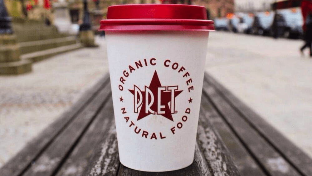 Pret's sustainable marketing: Plant based milk at no extra charge.