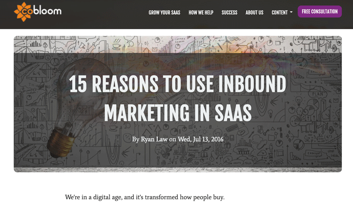 15 reasons to use inbound marketing in saas