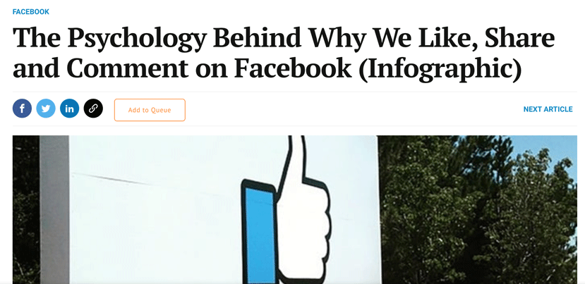 The psychology behind why we like, share and comment on facebook