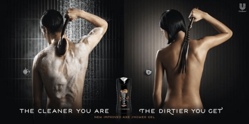 A copy of the Axe sexist ad