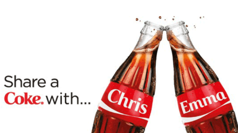 coca cola advertisment share a coke