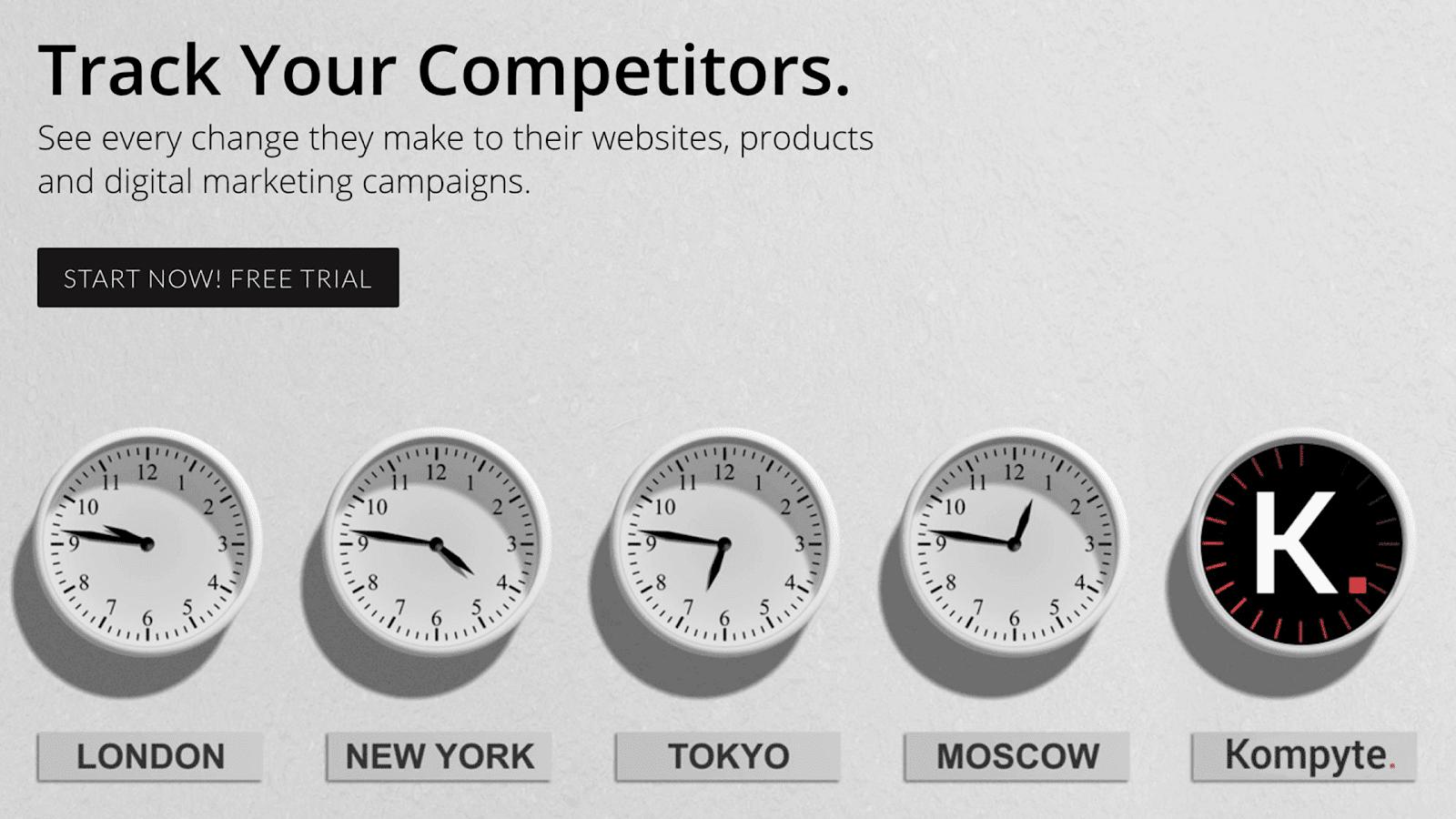 Kompyte competitor tracking tool