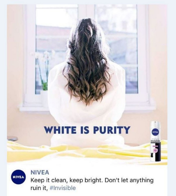 A copy of the racist ad from Nivea