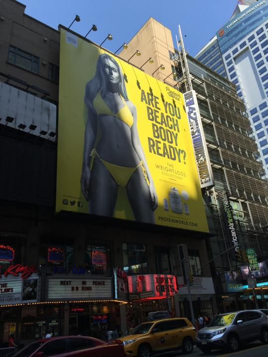 Protein World controversial billboard ad in New York