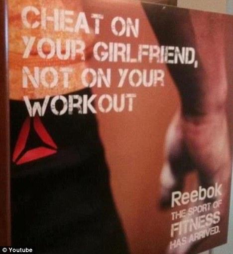 Reebok's sexist print ad