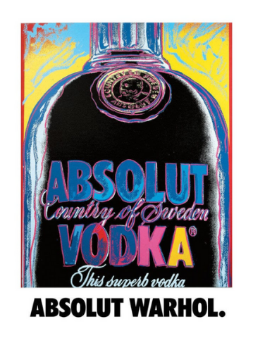 absolute vodka warhole campaign