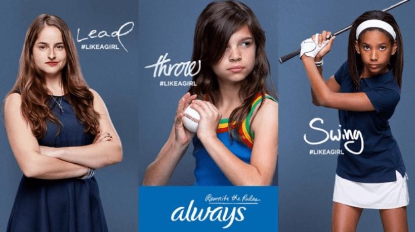 always like a girl print campaign