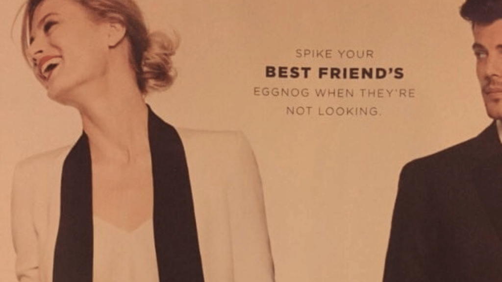 A copy of the controversial Bloomingdales print ad