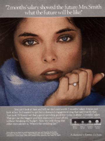 original diamond is forever print ad campaign