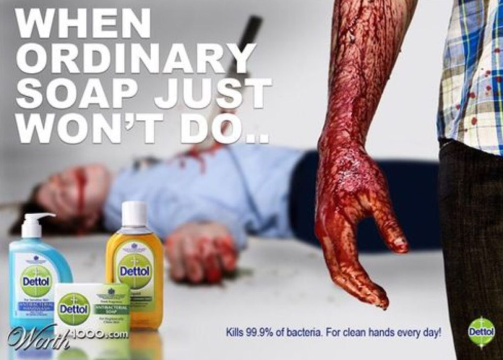 Controversial Dettol soap ad with murder as a sales technique