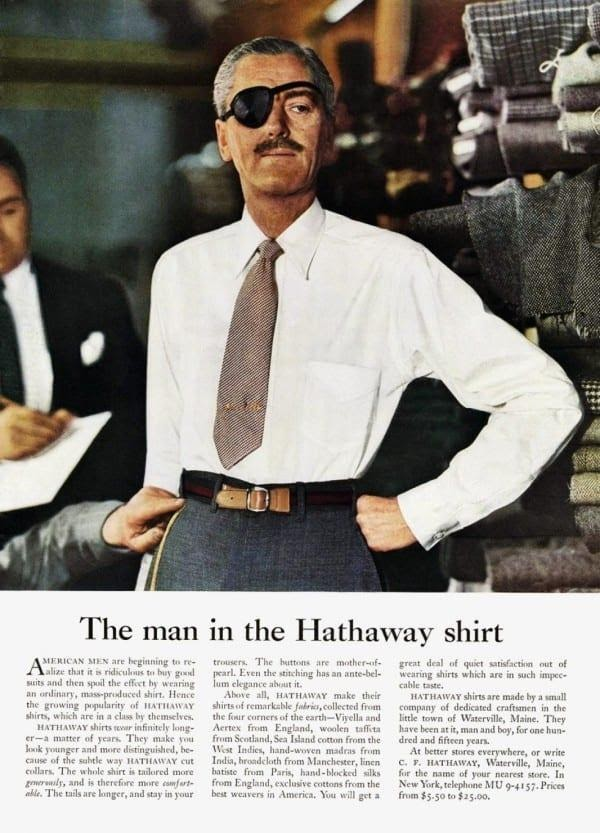 the man in the Hathaway shirt