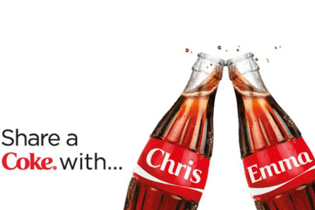 Copy of the Share a Coke campaign