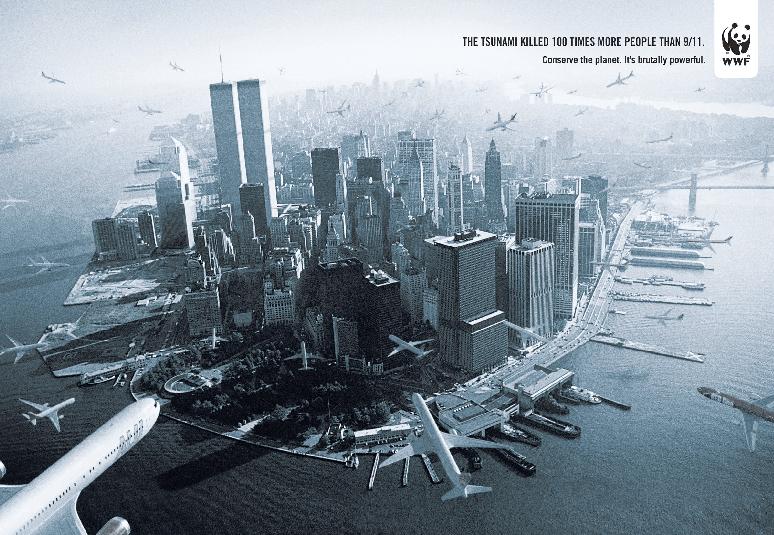 WWF's 9/11  themed print ad