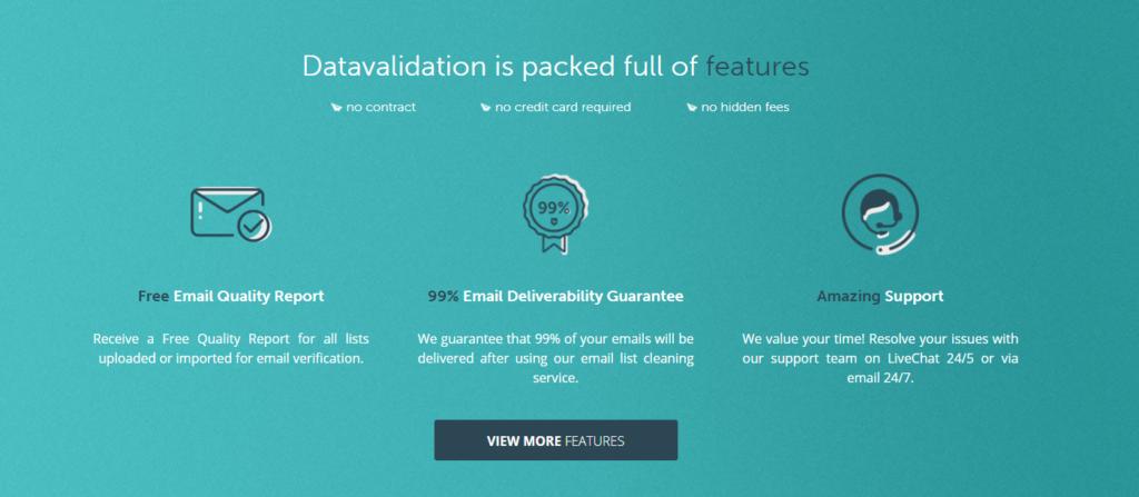 DataValidation features