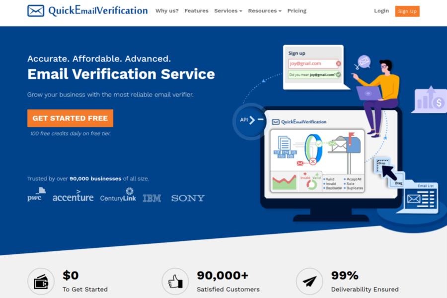QuickEmailVerification tool