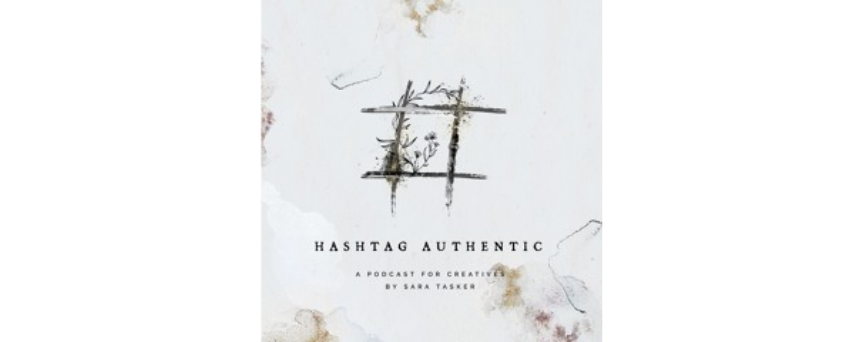 Hashtag Authentic written on a white background, with an hashtag above as logo