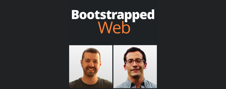 """Image of Brian Casel and Jordan Gal with """"Bootstrapped Web written above"""""""