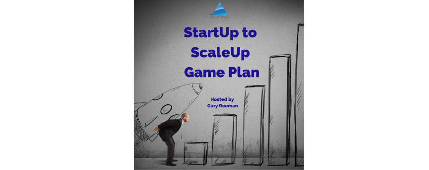 Image of Gary Reeman holding a cartoon style rocket while he's in front of a ladder made as a chart