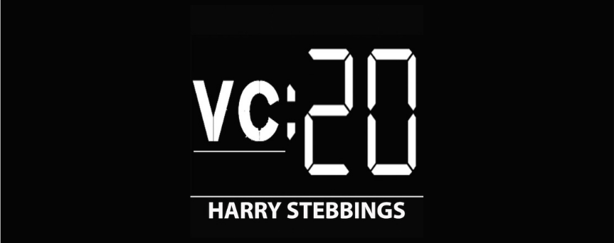 Black background with VC:20 written in the center