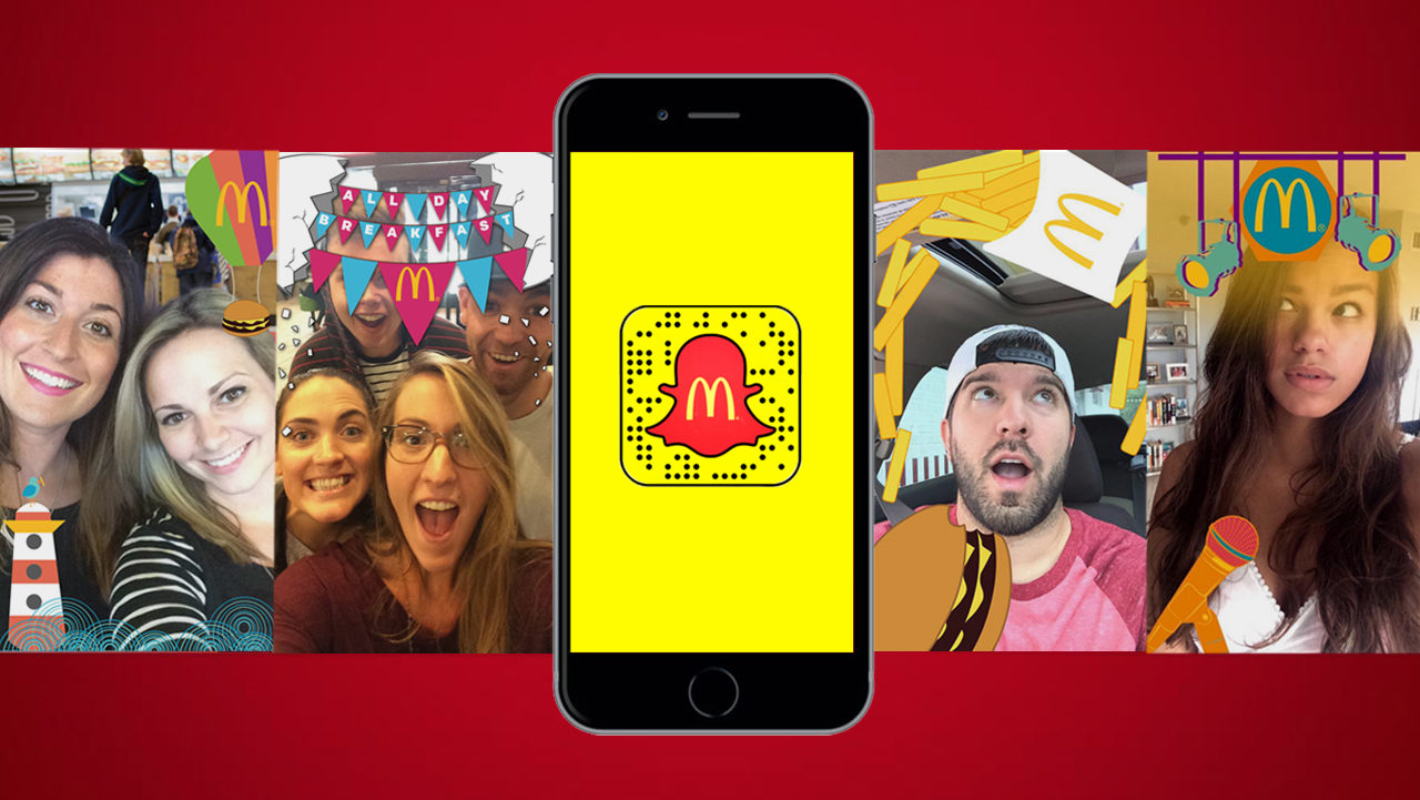 McDonald's Snapchat geo-filters campaign