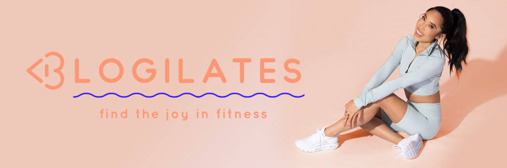 Screenshot of Blogilates webpage with Cassey Ho on the right side.