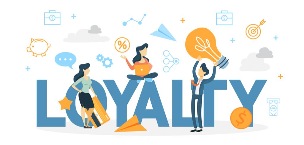 Illustration of customer loyalty.
