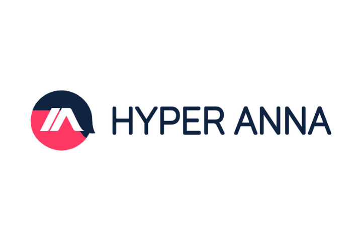 Hyper anna logo: navy and red logo to the left of navy hyper anna text on white background.