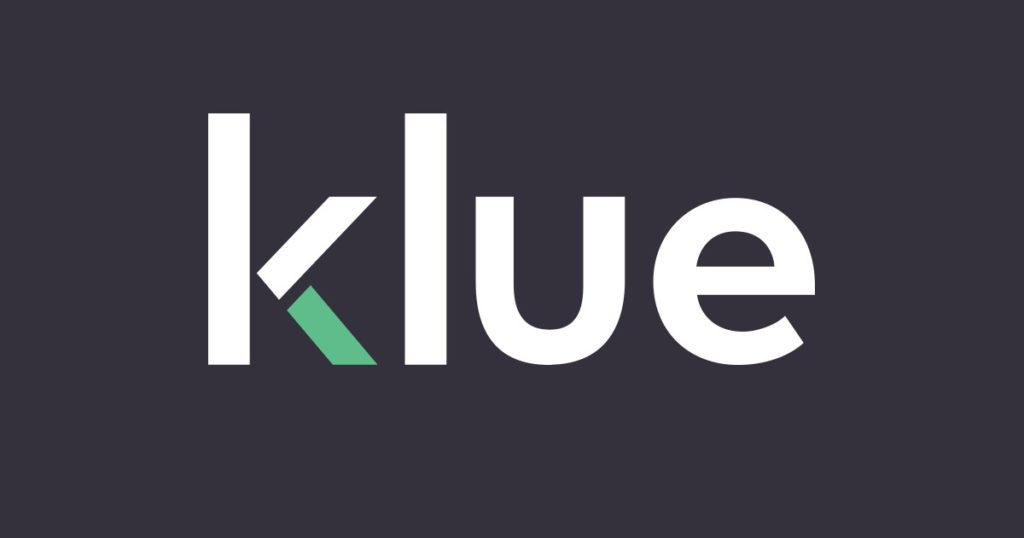 klue sign on a grey background