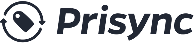 Prisync sign on a white background