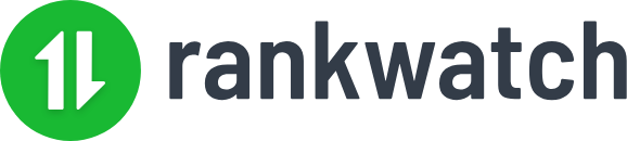 Rankwatch sign with the logo on its left