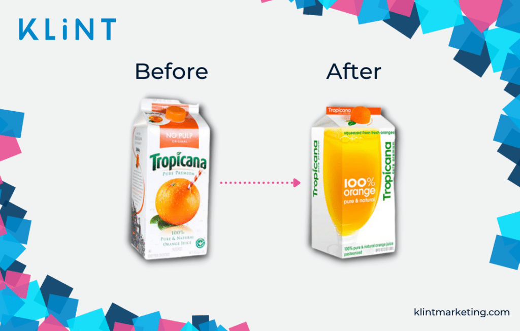 Tropicana logo before and after
