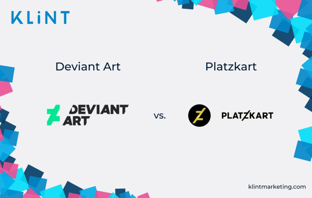 DeviantArt vs. Platzkart logo