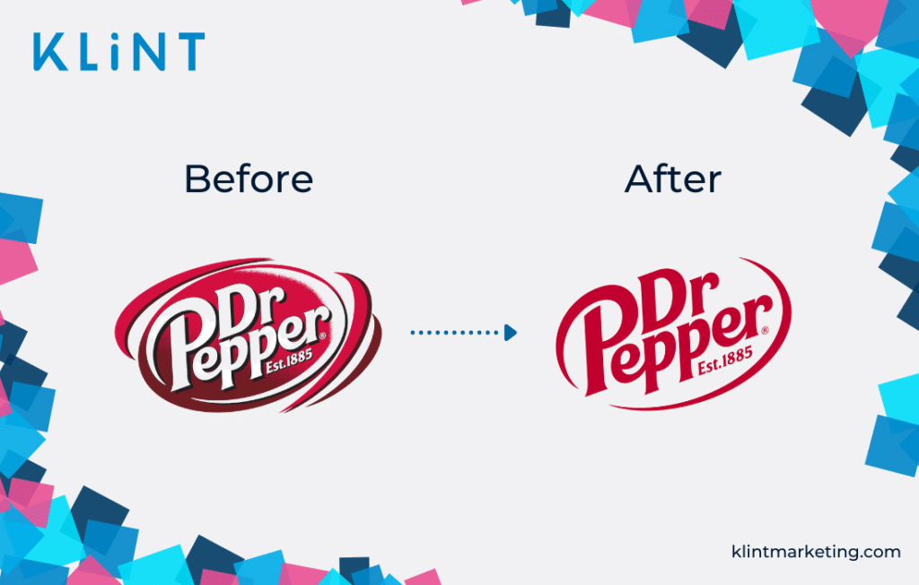 Dr Pepper logo change.