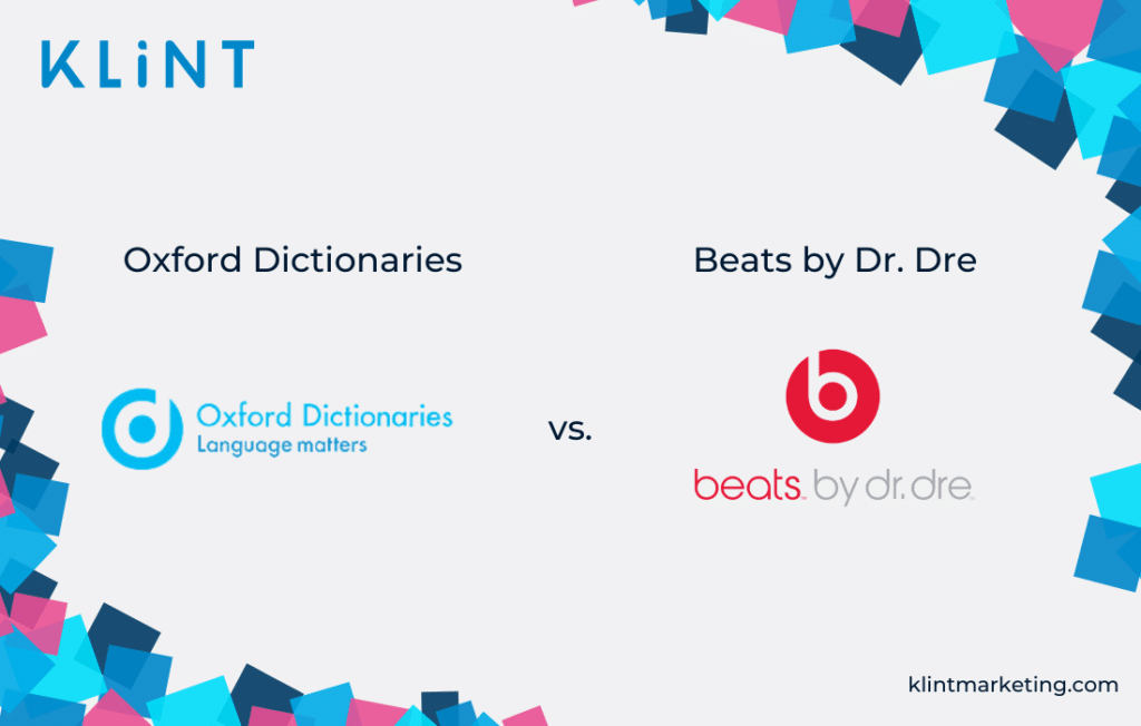 Oxford Dictionaries vs. Beats by Dr. Dre logo