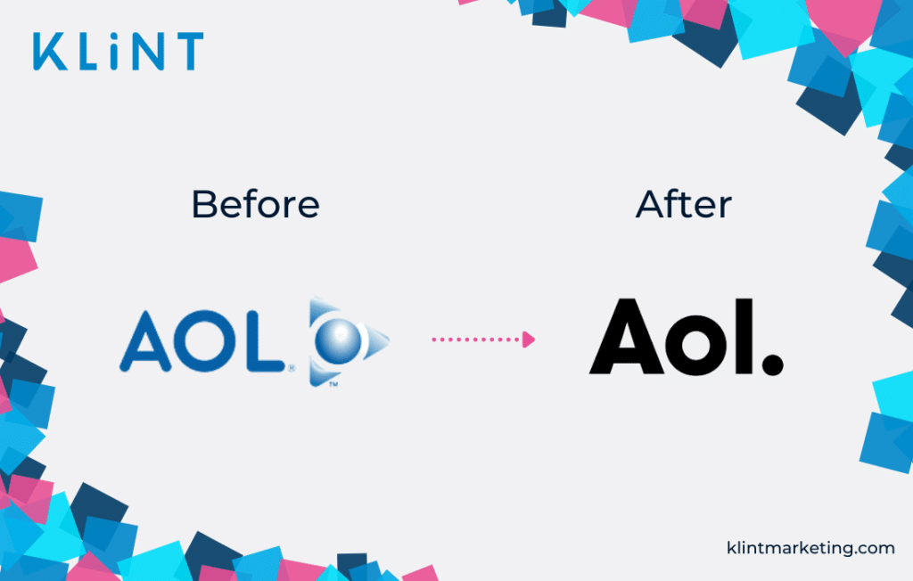 Aol rebranding before and after