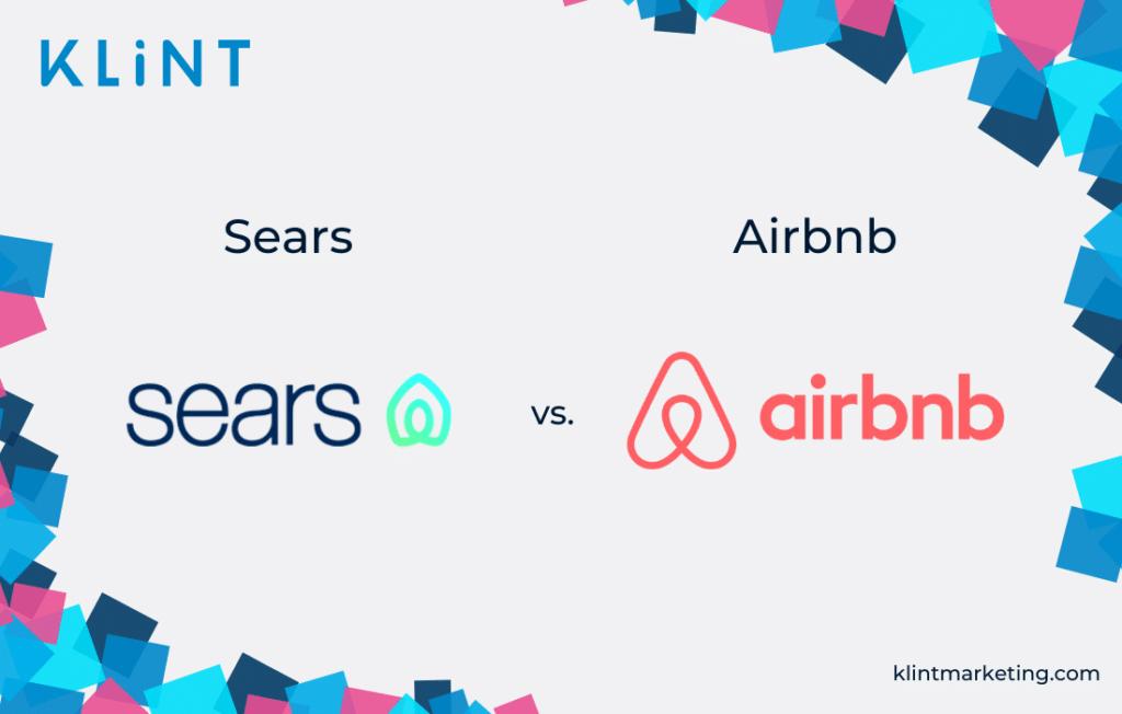 Sears vs. Airbnb logo
