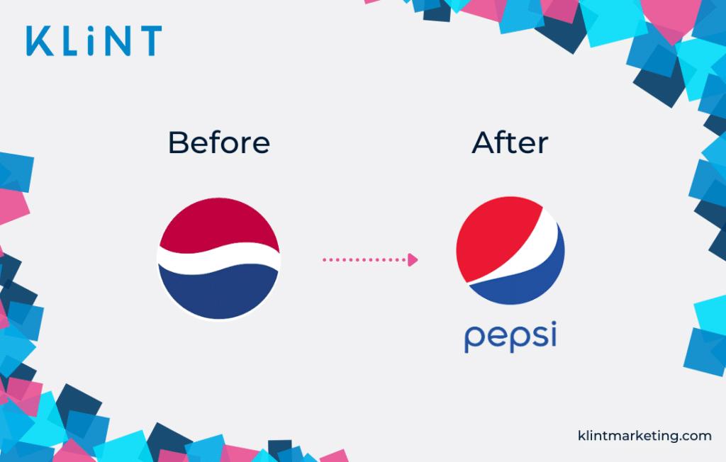 Pepsi's bad branding example.