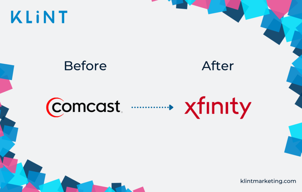 Comcast rebranding into Xfinity before and after