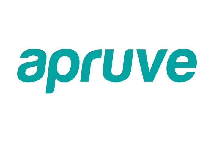 apruve Logo, green text white background