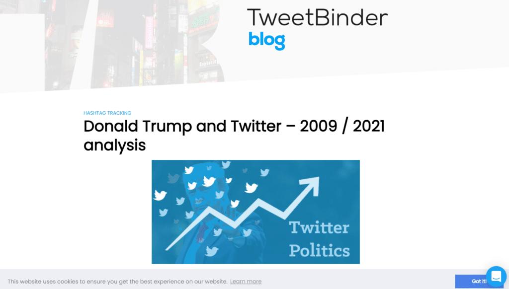 Screenshot of Tweetbinder content writing samples