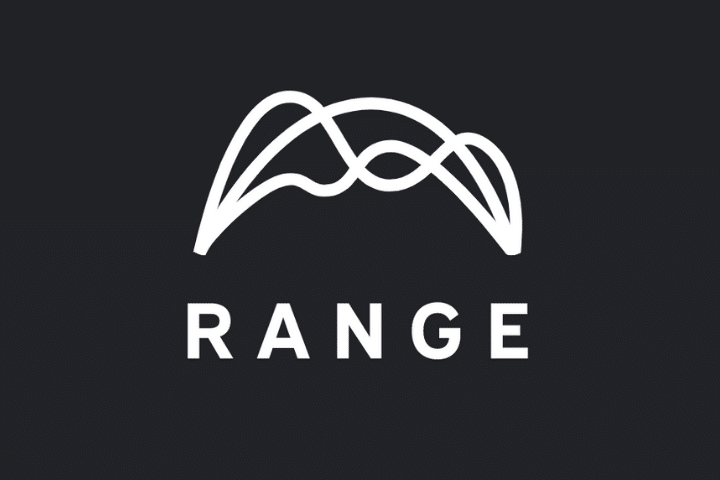 range logo white text black background