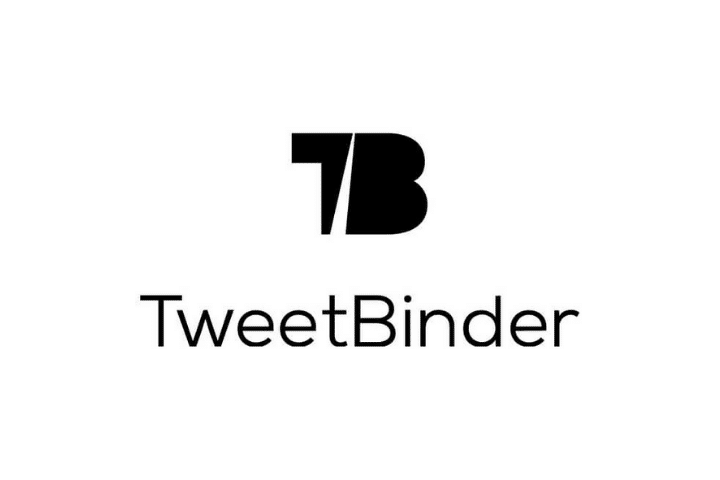 tweetbinder black logo  and text white background