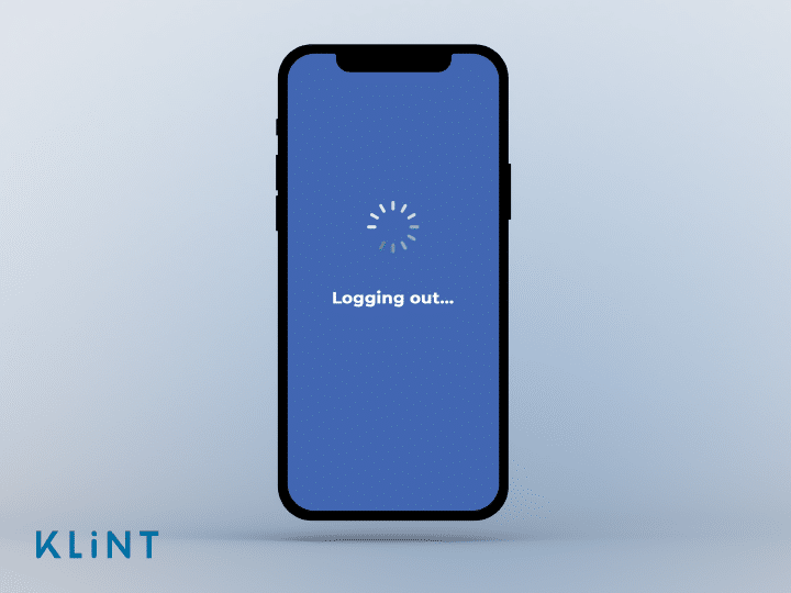 a smart phone screen logging out of a social media account